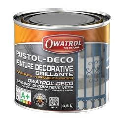 Rustol-DECO 0,5 liter zwart glans
