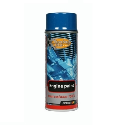 Motorlak / Engine paint blauw spuitbus 400ml