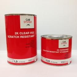 2K Blanke lak VOC SCRATCH RESISTANT set 1,5 liter