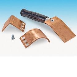 Welders helper 3 stuks, vlak, gebogen en haaks - Koper