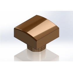 Square straight die radius 50