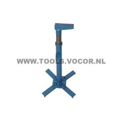 Verstelbare steun voor strek en stuik machine