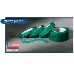 Poly tape groen A12, 204°C - 6,4mm breedt, 66 meter