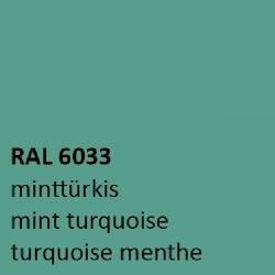 Mint turquoise RAL 6033 zijdeglans 500 gram Poedercoat poeder