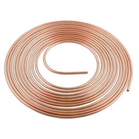 Rem/brandstof leiding Koper 3/8 inch - ca. 7.5 meter