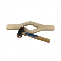 Wheel spinner tool met Hamer koper/leer