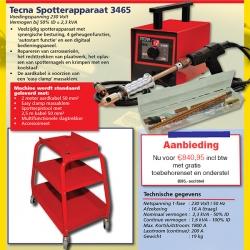 TECNA Spotter 3465 incl. toebehoren en gratis onderstel
