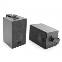 Speakers opbouw, aluminium zilver set 2 stuks