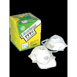 Schuur/stofmasker FFP2 met ventiel - 10 stuks