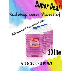 Screenwash / ruitensproeivloeistof 4 x 5 liter