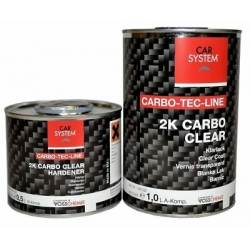 Carbo clear Plus 2K blanke lak voor carbon - set 1,5 liter