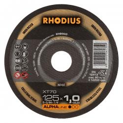 Doorslijpschijf vlak XT70 125x1x22,23 dik Rhodius