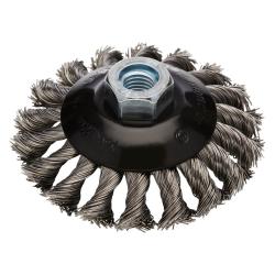 Staalborstel Kegel SKBZ 100mm 14mm aansluiting voor haakse slijper Rhodius