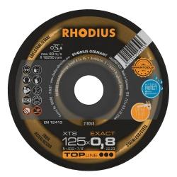 Doorslijpschijf vlak 125x0,8x22,23 dik Rhodius XT8 Exact