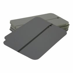 Spuitstalen metaal met ophangoog Medium Grijs - 50 stuks