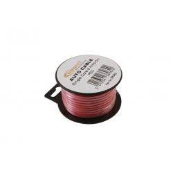 Draad 1mm2 rood PVC - mini haspel 6 meter