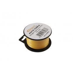 Draad 1mm2 geel PVC - mini haspel 6 meter