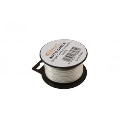 Draad 1mm2 wit PVC - mini haspel 6 meter