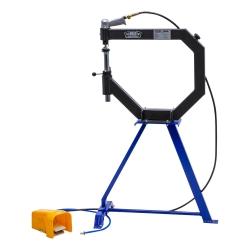 Pneumatische hamer / planeerhamer / planishing hammer met onderstel