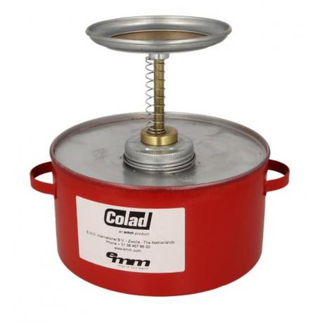 Metalen plunjerkan 2 liter