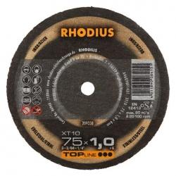 Vlakke doorslijpschijf 75x1mm. Rhodius