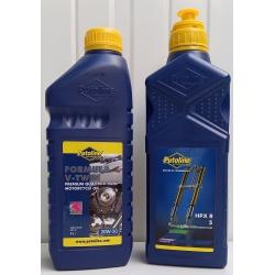 2 liter Putoline combi-deal. Motorolie en voorvorkolie