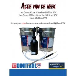 10 liter Dinitrol ML + 10 liter Dinitrol 1000 met gratis Vaupel drukbekerpistool