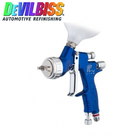 DeVilbiss PRO-LITE-Blauw Bovenbekerspuitpistool