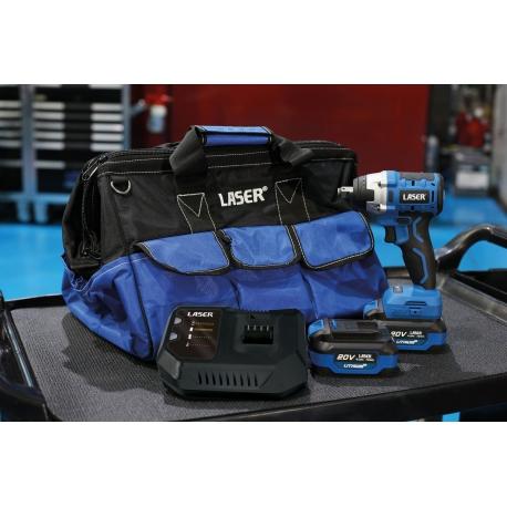 Start pakket accu slagmoersleutel 20V 300 Nm  - Laser Tools