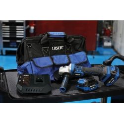 Startpakket haakse accu slijper 20V - Laser Tools