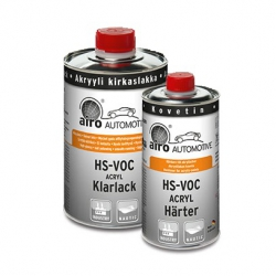 2K HS blanke lak Airo Profit Line Hoogglans set 1,5 ltr.