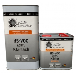 2K HS blanke lak Airo Profit Line Hoogglans set 7,5 liter