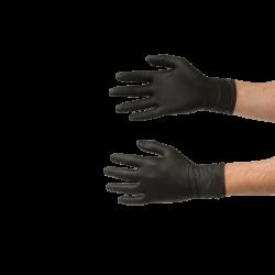 Nitril Handschoenen zwart - 60 stuks Colad