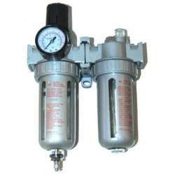 """Filter, drukregelaar en smeertoestel 1/2"""" aansluiting"""